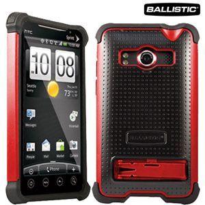 Carcasa Ballistic SG roja para HTC EVO 3D