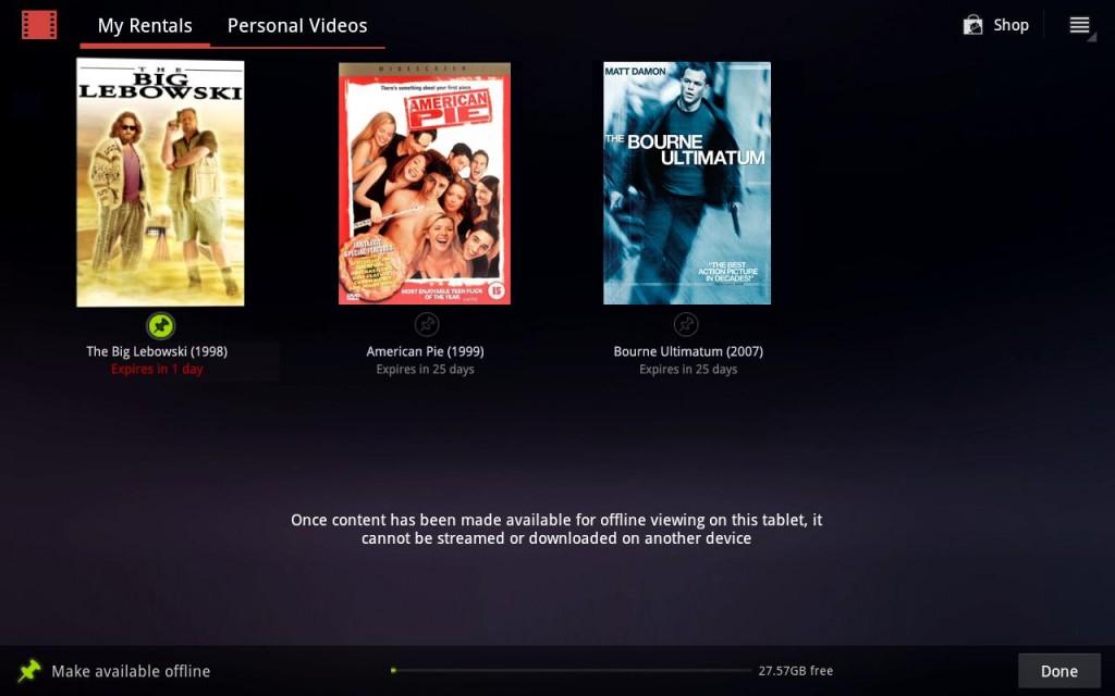Selecciona tus películas favoritas con Videos