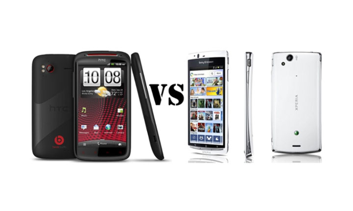 comparativa entre el htc sensation xe y el sony ericsson xperia arc s. Black Bedroom Furniture Sets. Home Design Ideas