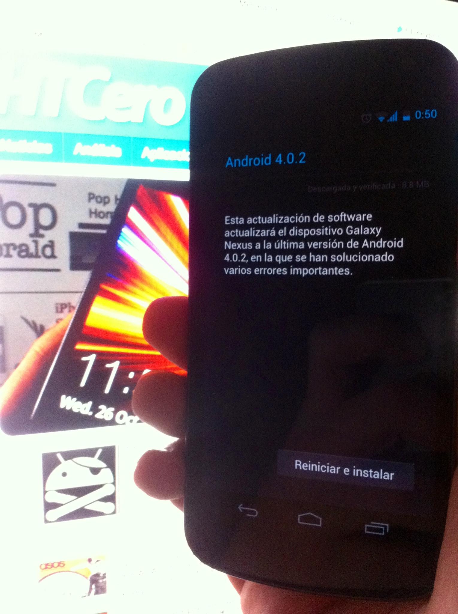 Actualizacion Samsung Galaxy Nexus