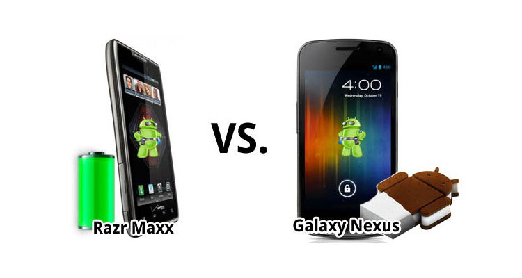 droid razr maxx vs galaxy nexus