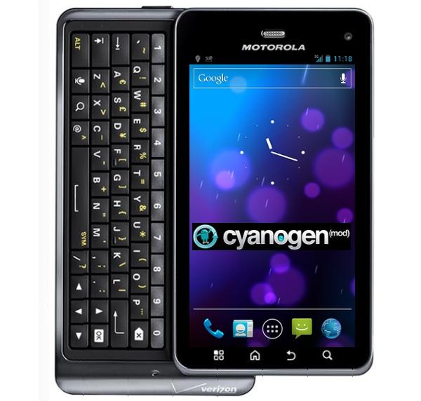 ICS CyanogenMod 9 en Droid 3