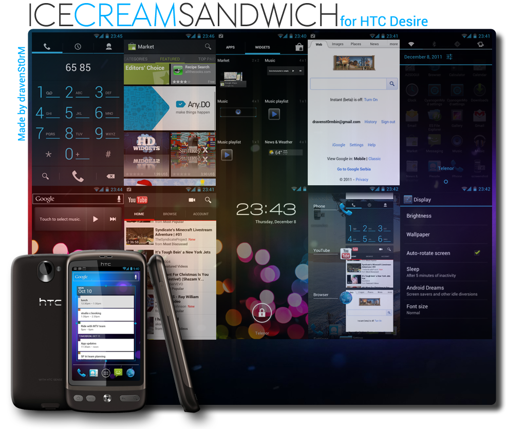 HTC Desire S Android 4.0