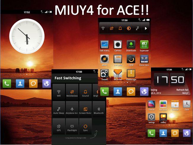 MIUY4 ROM Samsung Galaxy Ace
