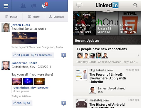 facebook-linkedin-android