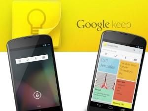 La nueva Aplicación, Google Keep