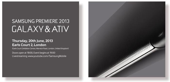 Samsung Premiere 2013 confirmado para Junio
