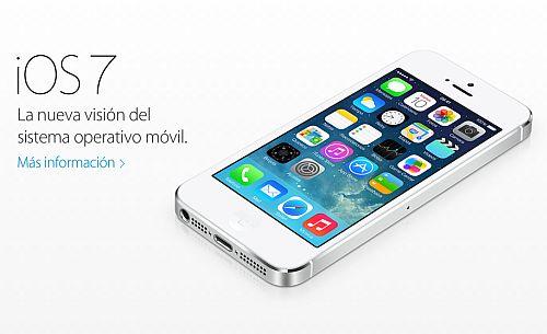 Iphone 5s y 5c sistema operativo ios7