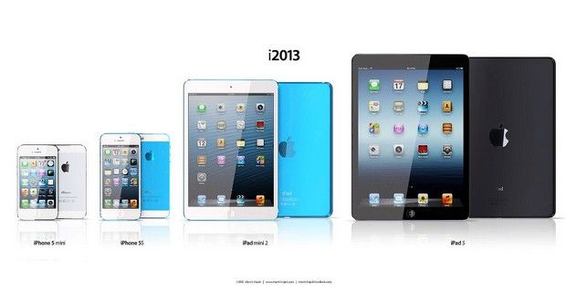 Familia de Apple con el iPad 5