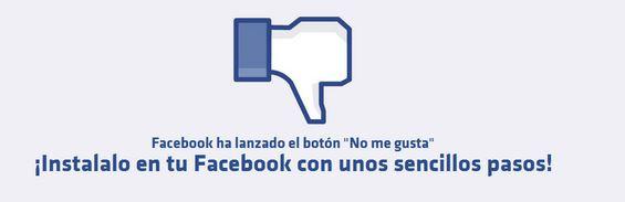 """Falso boton """"no me gusta"""" en Facebook"""
