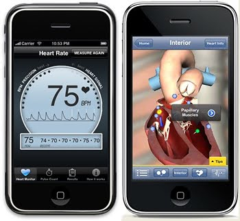 iPhone con sensor cardiaco