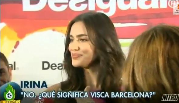 Irina Shayk entrevista Barcelona