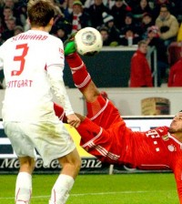 Thiago Alcantara Gol de Tijera en Bayern Munich