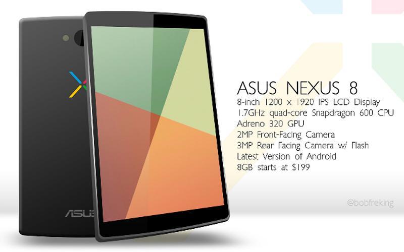 Lanzamiento de la Nexus 8