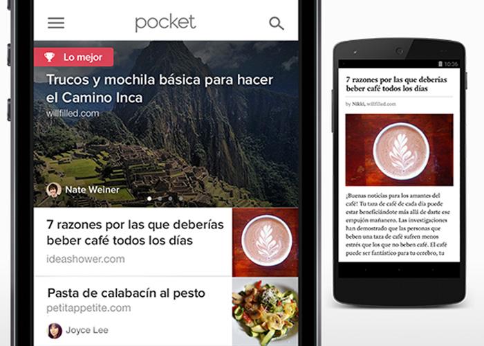 La nueva actualización de Pocket