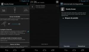 Gravity Screen la nueva aplicación.