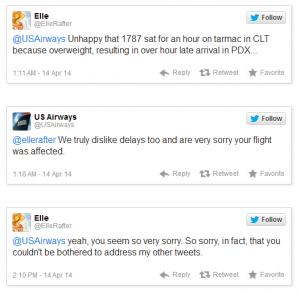 USAirways tuitero en problemas